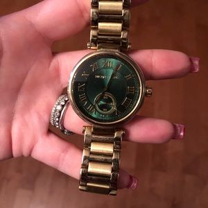 Michael Kors authentic gold watch emerald green